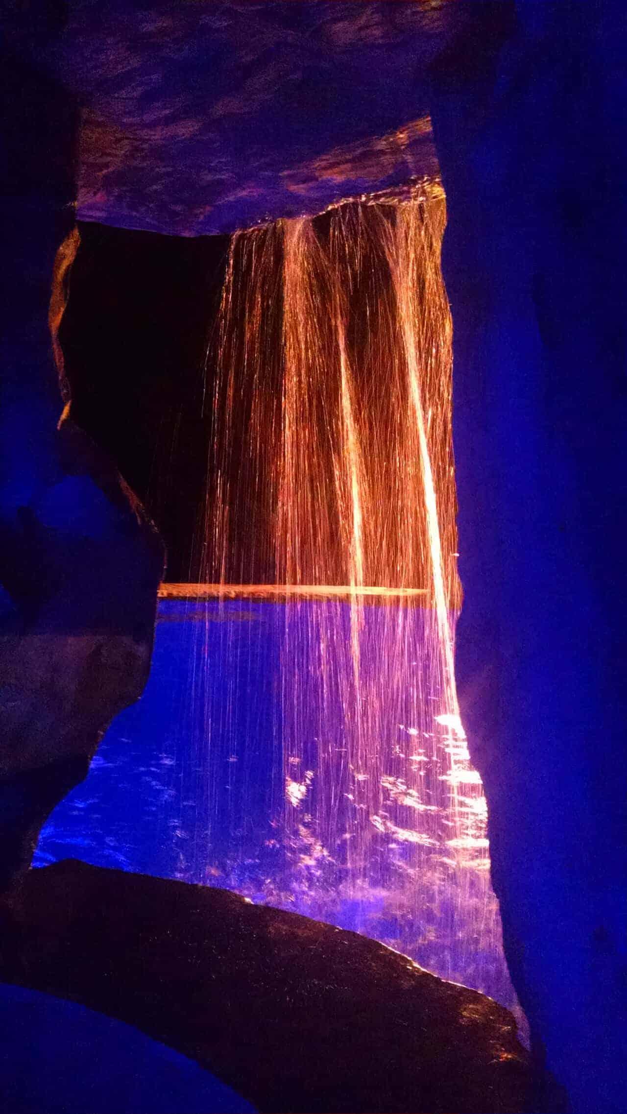 Inside RicoRock Cave Waterfall