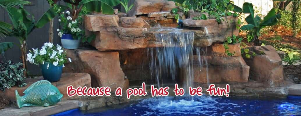 swimming pool waterfalls by ricorock inc a new way to build custom swimming pool waterfalls