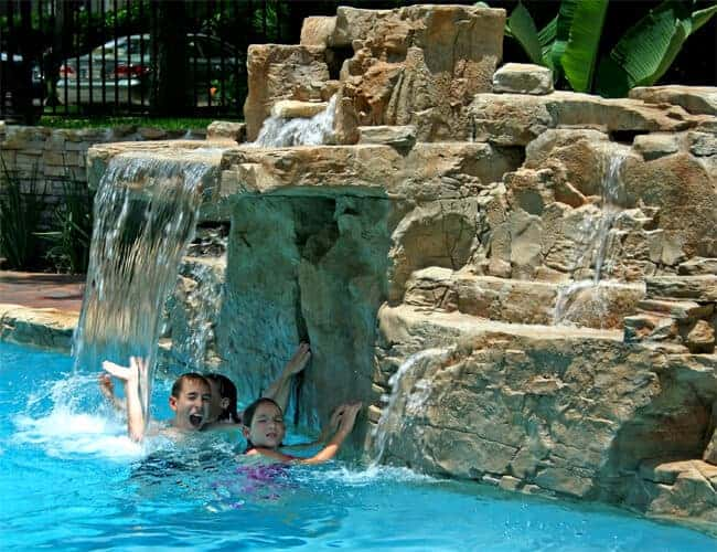 Recent projects ricorock inc for Pool design waterfall