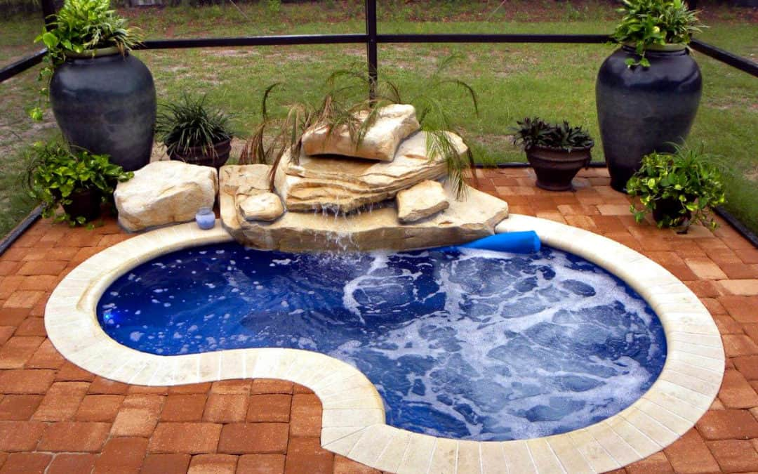 Compact Version of Our Texas 2-Step Swimming Pool Waterfall