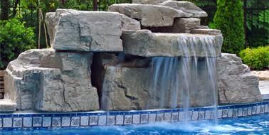3 ft modular swimming pool waterfall kit - Pool Waterfalls