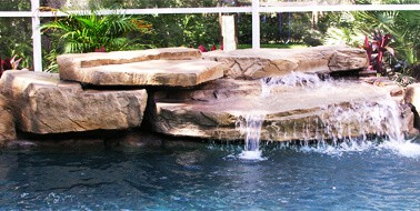 Maldives Plete Swimming Pool Waterfall Kit Pools And Waterfalls With Flowing Rock Kits