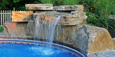 Inground Pools With Waterfalls swimming pool waterfall kits - ricorock®, inc.