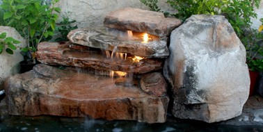 florida three step swimming pool waterfall kit - Pool Waterfalls