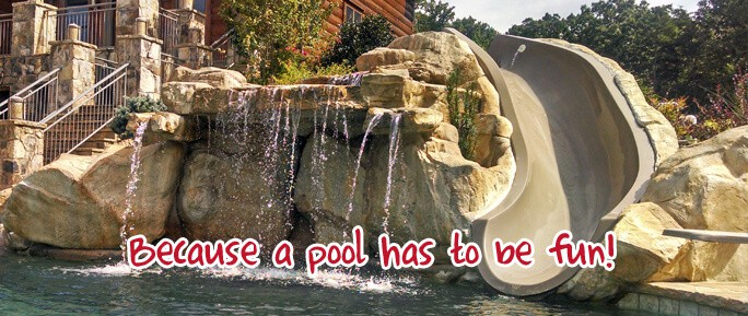 waterslide options ricorock inc - Cool Pools With Waterfalls And Slides