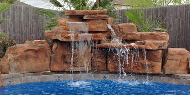 4 ft double swimming pool waterfall kit - Swimming Pools With Waterfalls