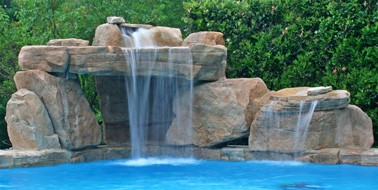 boulder cave swimming pool waterfall kit