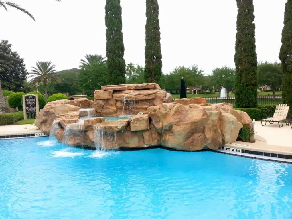 custom swimming pool waterfall kit