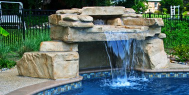 loveseat grotto swimming pool waterfall kit