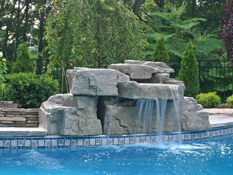 Modular pool waterfall gallery ricorock inc
