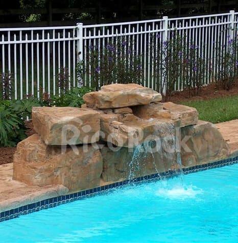 3 Ft Modular Swimming Pool Waterfall Kit Ricorock 174 Inc