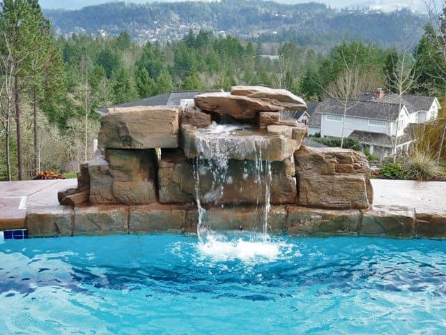 3 ft modular swimming pool waterfall kit ricorock inc for Swimming pools with waterfalls