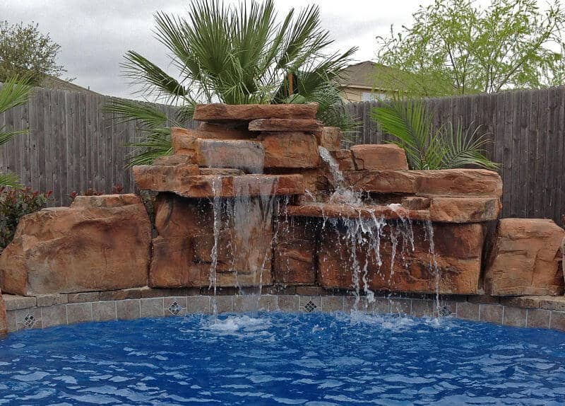 4 ft double swimming pool waterfall kit ricorock inc - Holiday homes in somerset with swimming pool ...