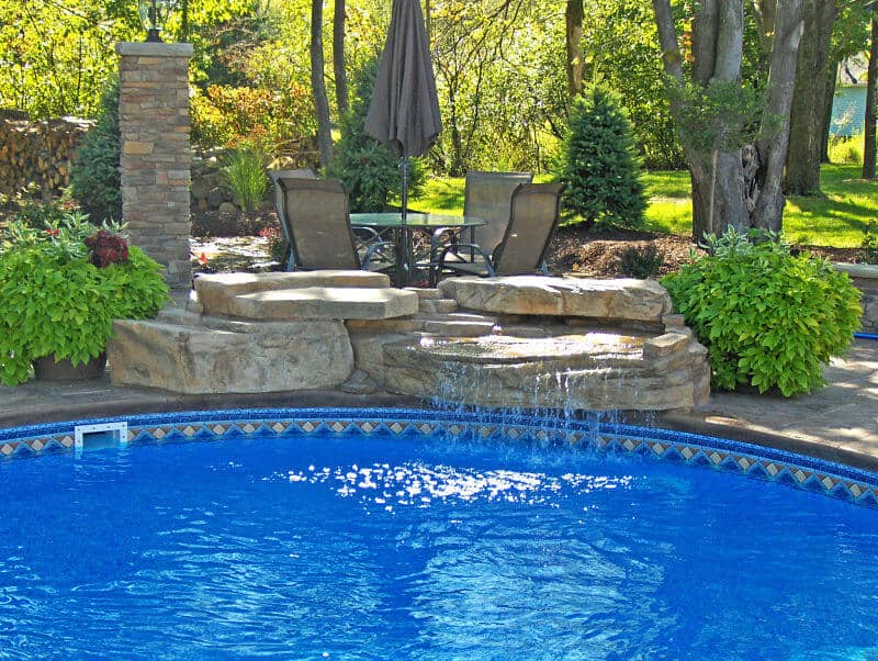 Piece ledger swimming pool waterfall kit ricorock inc