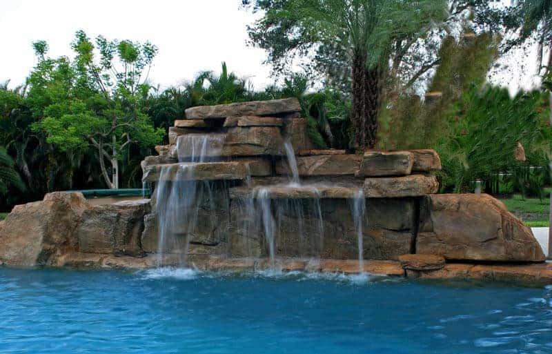 4 Ft Double Swimming Pool Waterfall Kit Ricorock 174 Inc