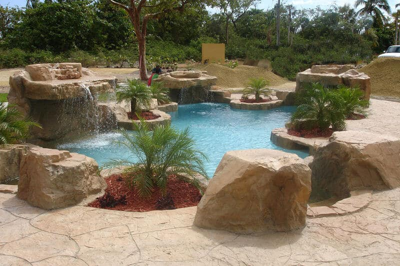 Boulders Around Pool Unique Coping & Boulders  Ricorock® Inc.