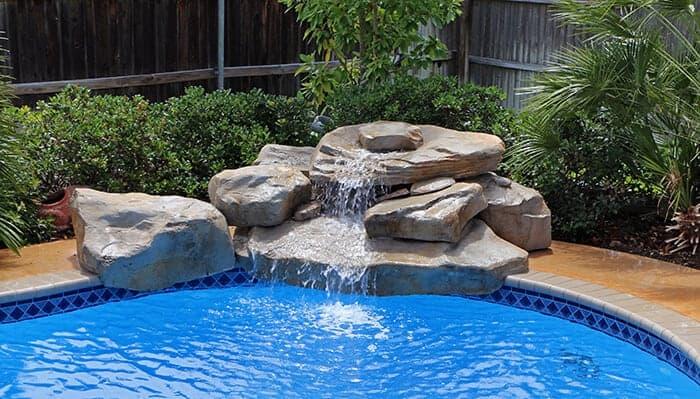 Texas Two Step Swimming Pool Waterfall Kit Ricorock 174 Inc