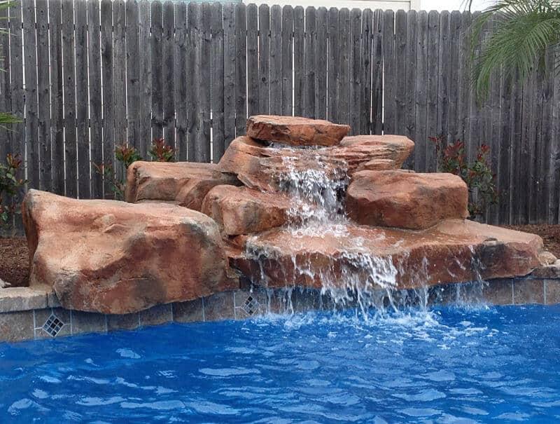Texas Two Step Swimming Pool Waterfall Kit Ricorock Inc