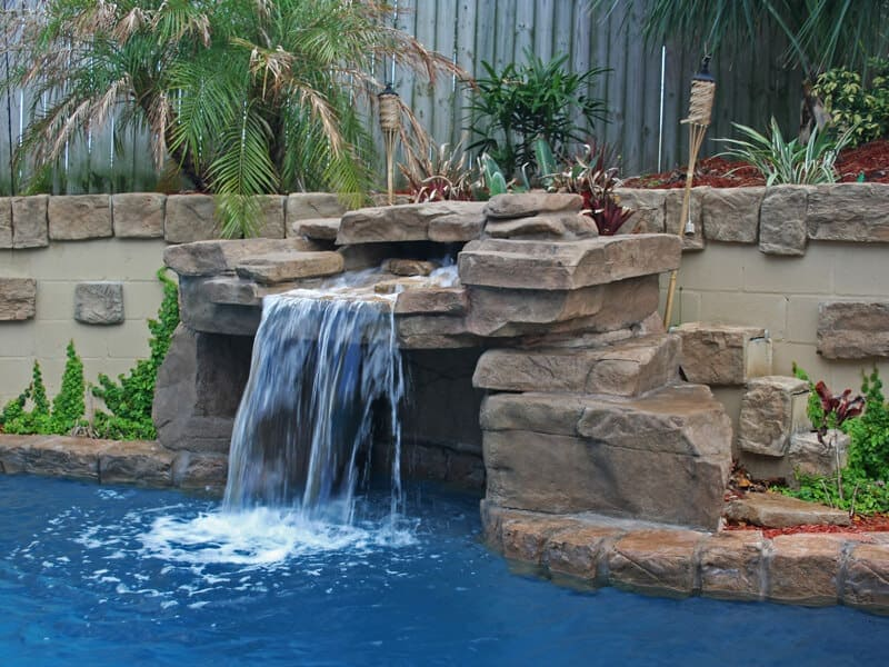 Prestige Pools Of Wilmington Nc Rico Rock Waterfalls For Your Swimming Pool From Wilmington