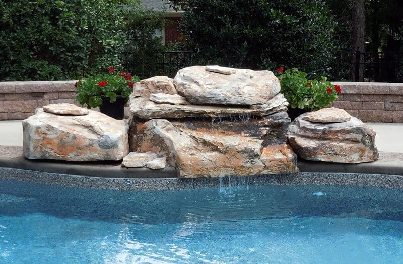 Tennessee Ledger Swimming Pool Waterfall Kit Ricorock