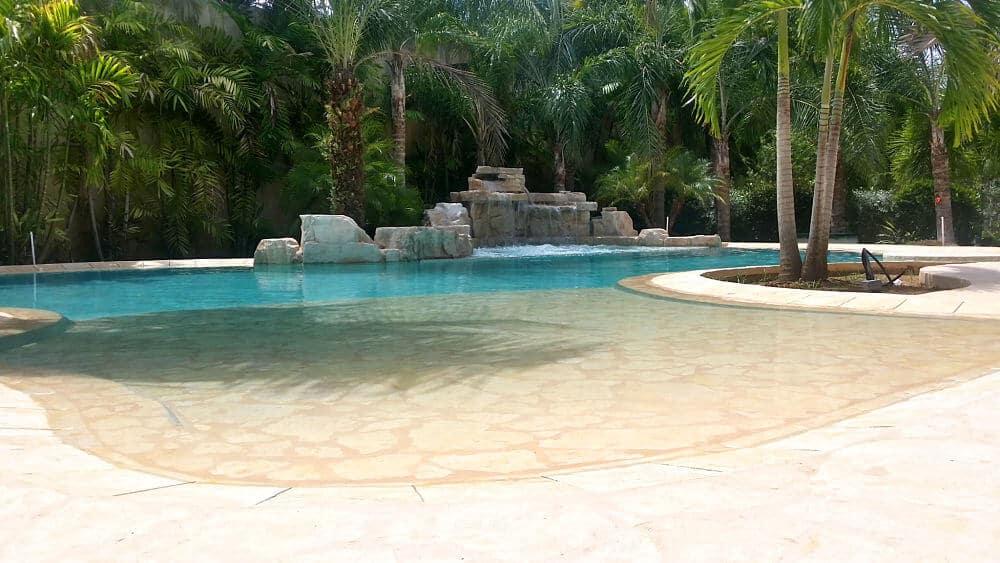 4 Foot Double Swimming Pool Waterfall Kit Ricorock Inc