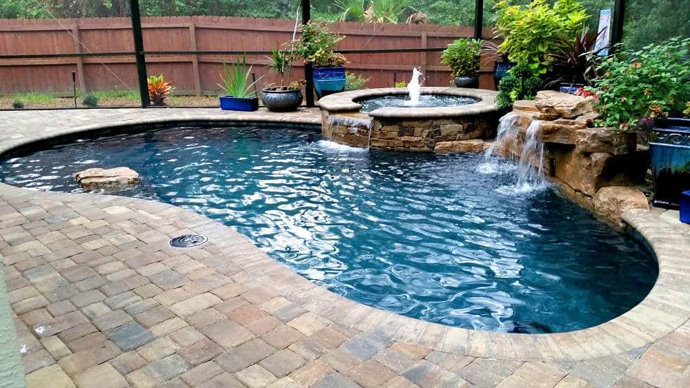 Ricorock 28 swimming pool waterfall kit ricorock inc for Prefab inground pools