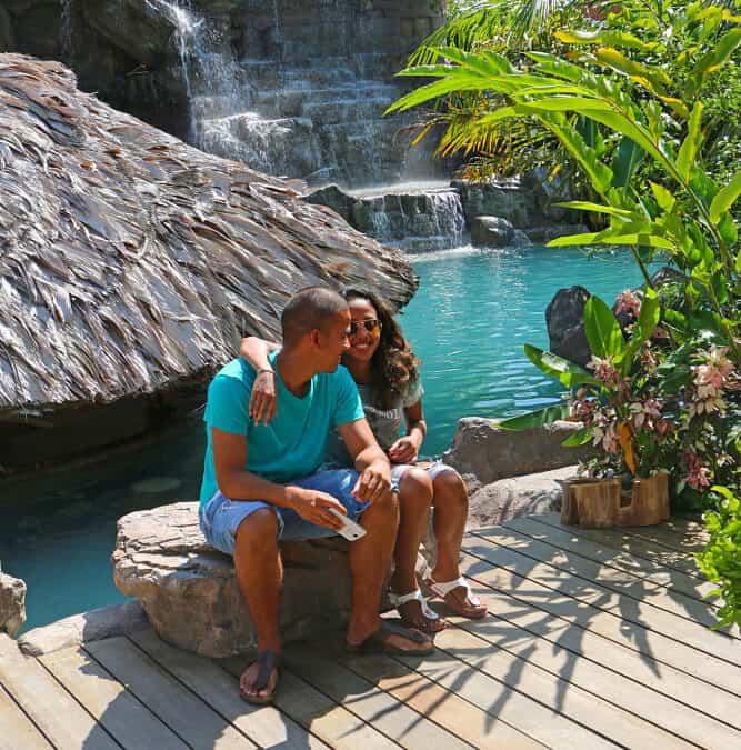 RicoRock Custom Waterfall in South America