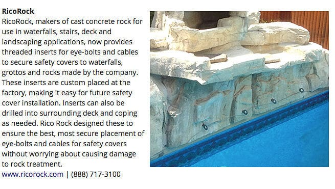 RicoRock was featured in the August 2015 issue of Aqua Magazine!