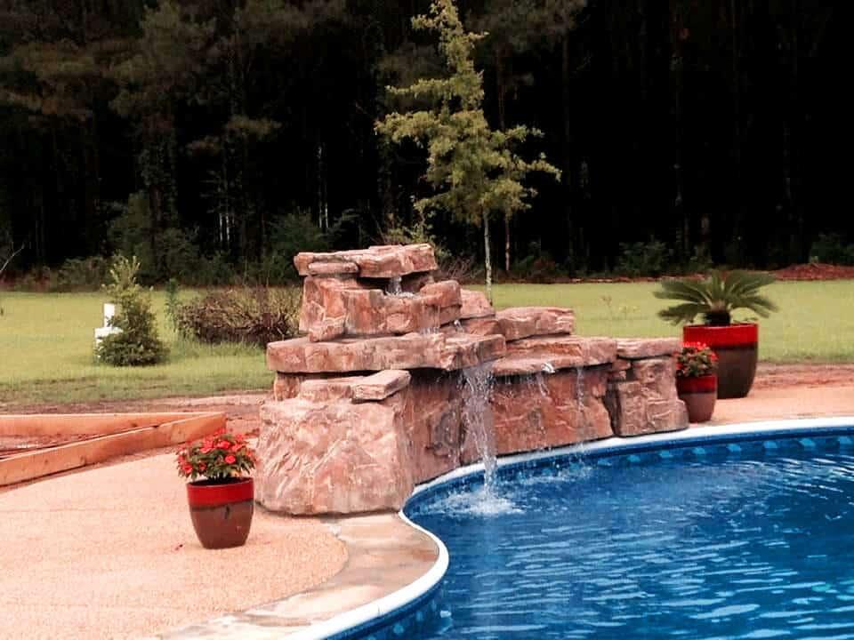 Ricorock 4 Ft Double Swimming Pool Waterfall Kit