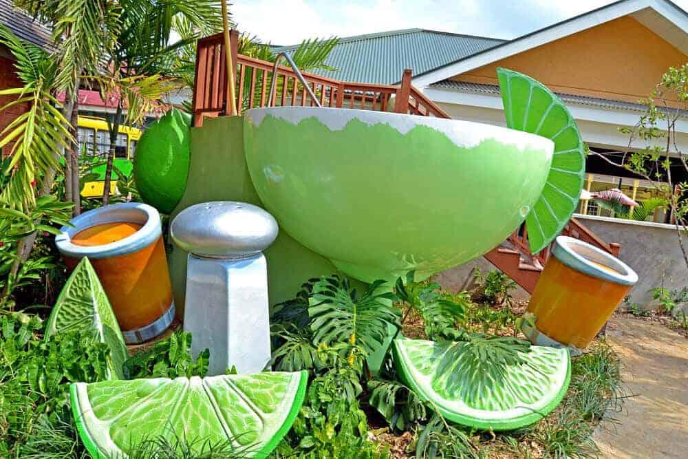 Margarita glass spa at Margaritaville, Jamaica