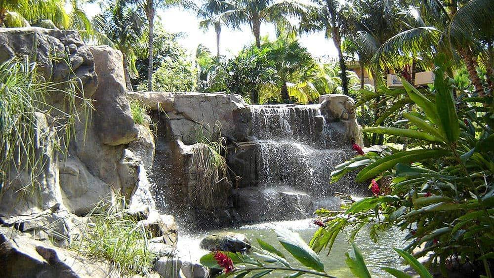 Waterfalls at the Radisson Aruba