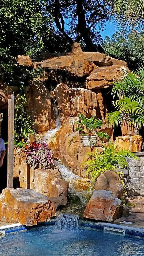 Custom Waterfall & Cave using RicoRock Castings