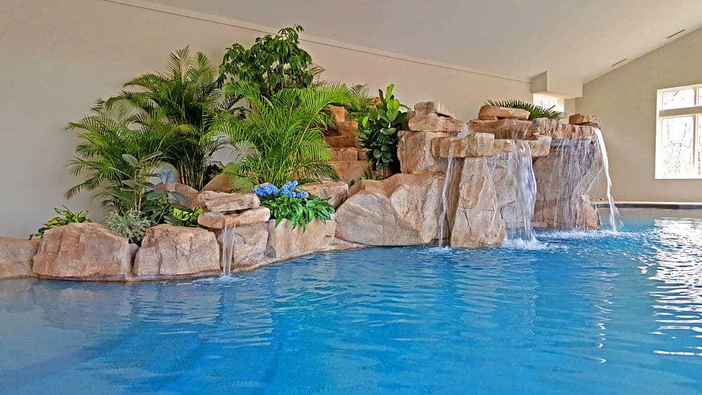 custom rock work on an indoor pool - ricorock®, inc.