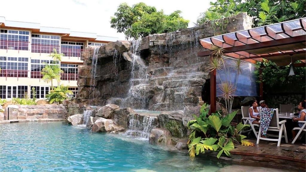 Custom RicoRock Waterfall in South America