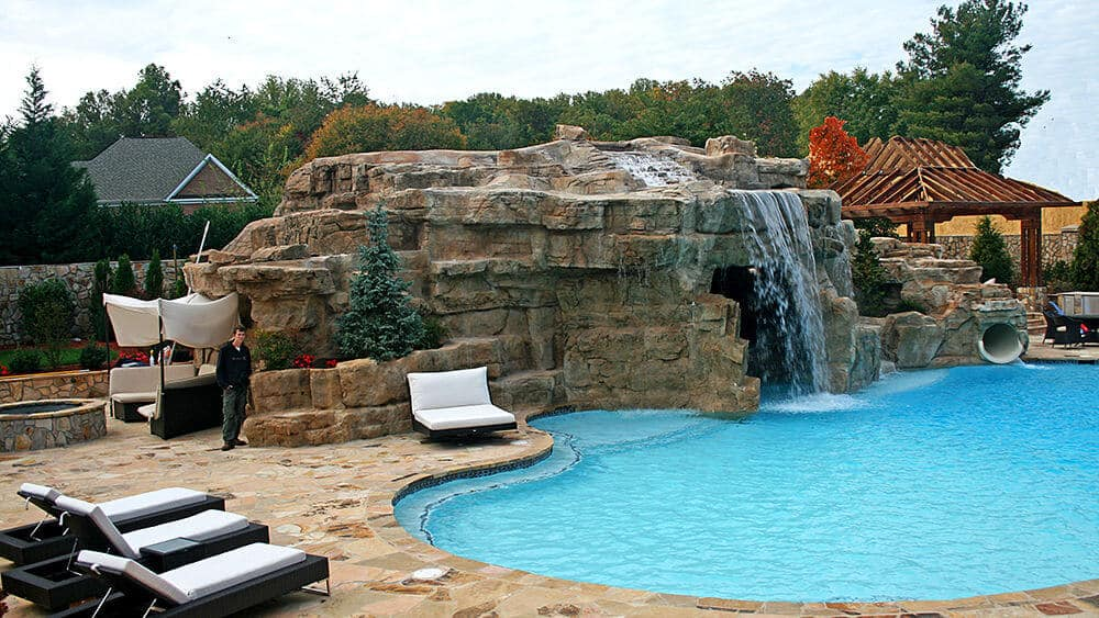 Pool house man cave in virginia ricorock inc for Pool design virginia