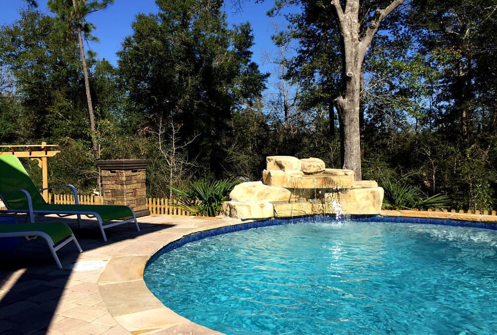 28″ Swimming Pool Waterfall