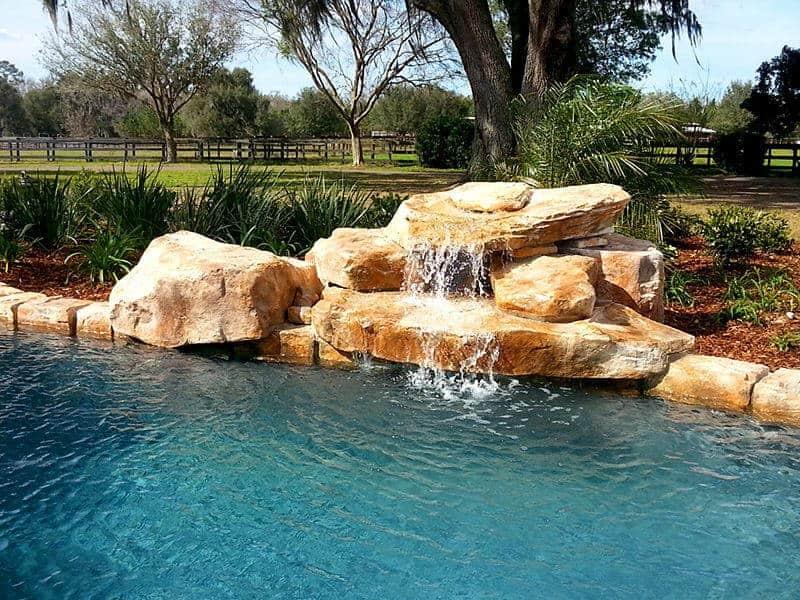 Texas 2 Step Swimming Pool Waterfall Kit Ricorock Inc