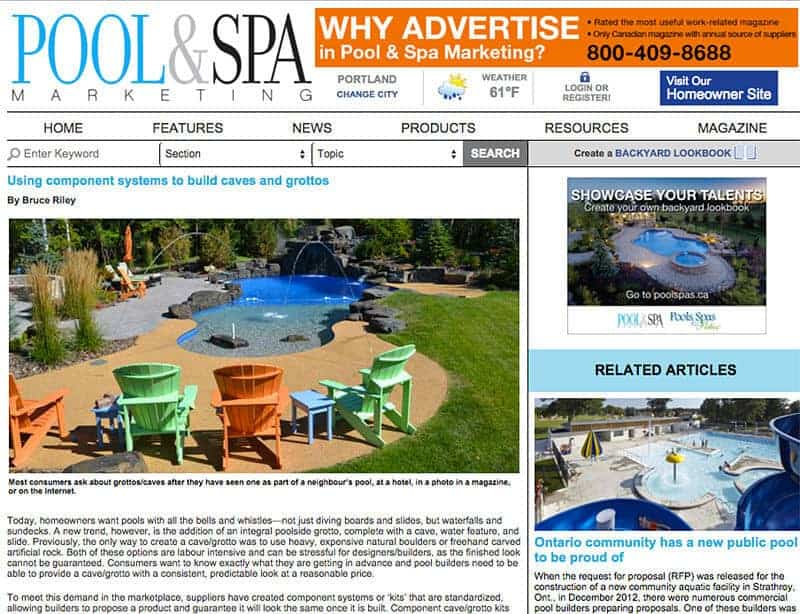 RicoRock Featured in Pool & Spa Marketing