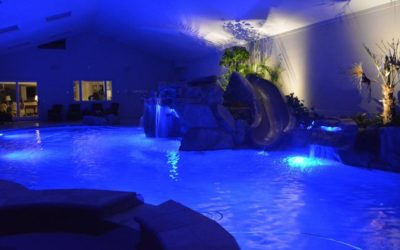 Indoor Pool Using RicoRock Water Features
