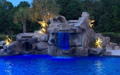 Dramatic Custom Spa Grotto Before & After