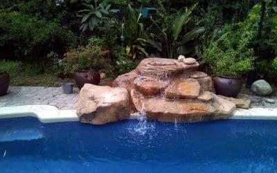 Texas Two-Step Swimming Pool Waterfall in Florida