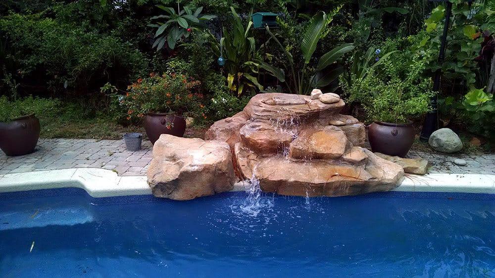 Texas Two Step Swimming Pool Waterfall In Florida Ricorock Inc