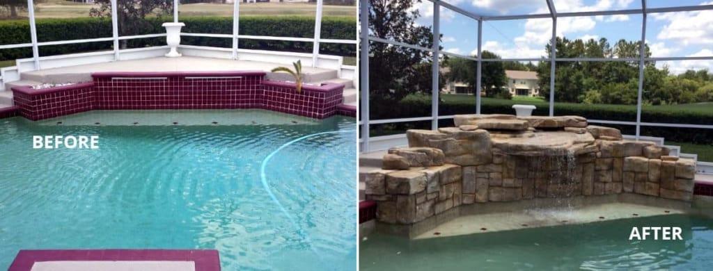 Swimming Pool Makeovers : Swimming pool makeover before after ricorock inc