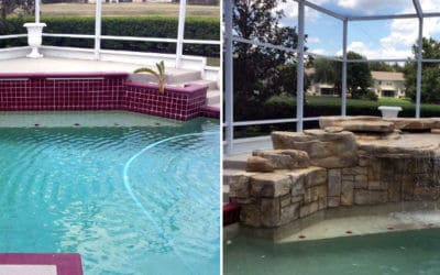 Swimming Pool Makeover Before & After