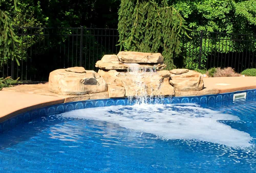 RicoRock Tennessee Ledger Swimming Pool Waterfall