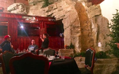 Custom Rock Formations in Roundhouse Restaurant in Lead, SD