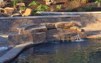 4 Piece Ledger Swimming Pool Waterfall Kit