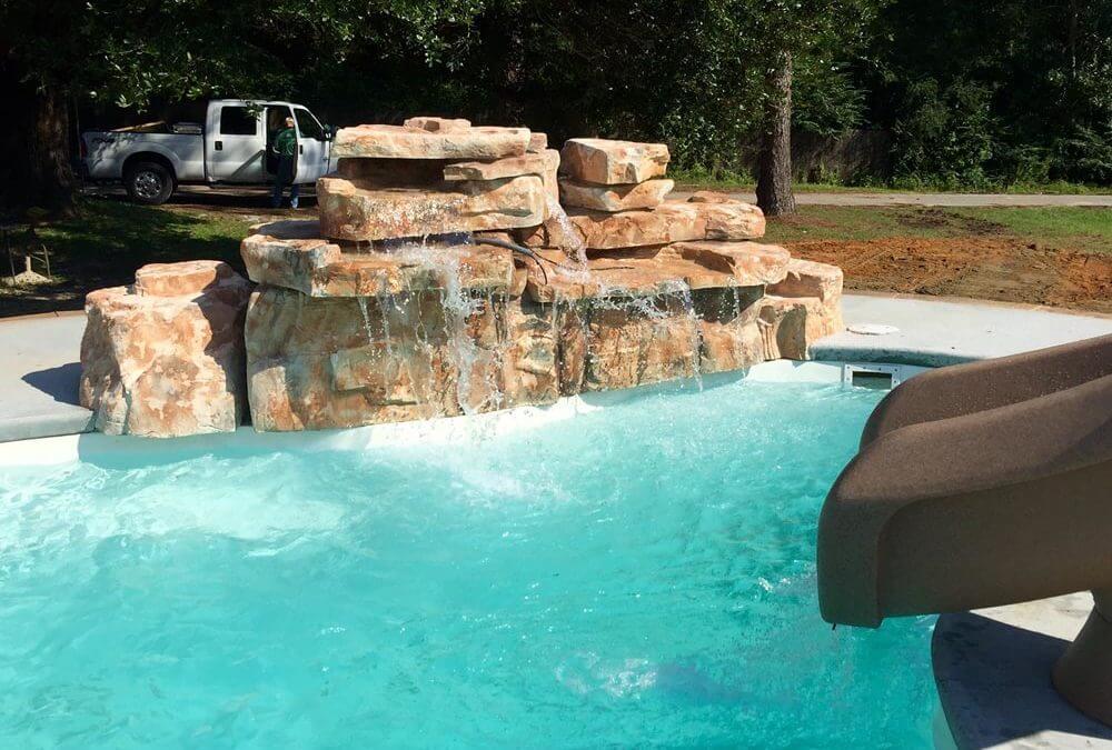 Ricorock 4 Foot Double Swimming Pool Waterfall Kit Ricorock Inc