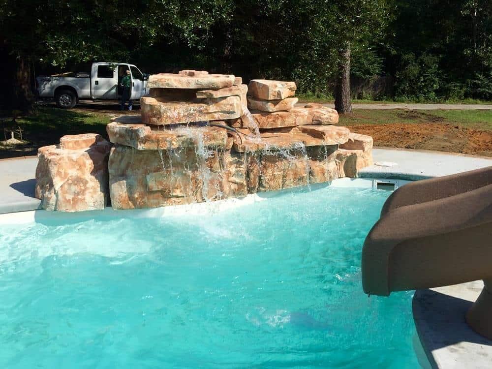 Ricorock 4 Foot Double Swimming Pool Waterfall Kit