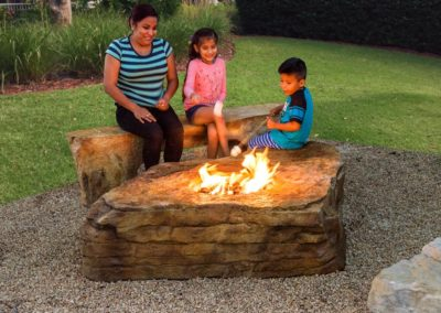 Waterfall Creations - Boulder Firepit